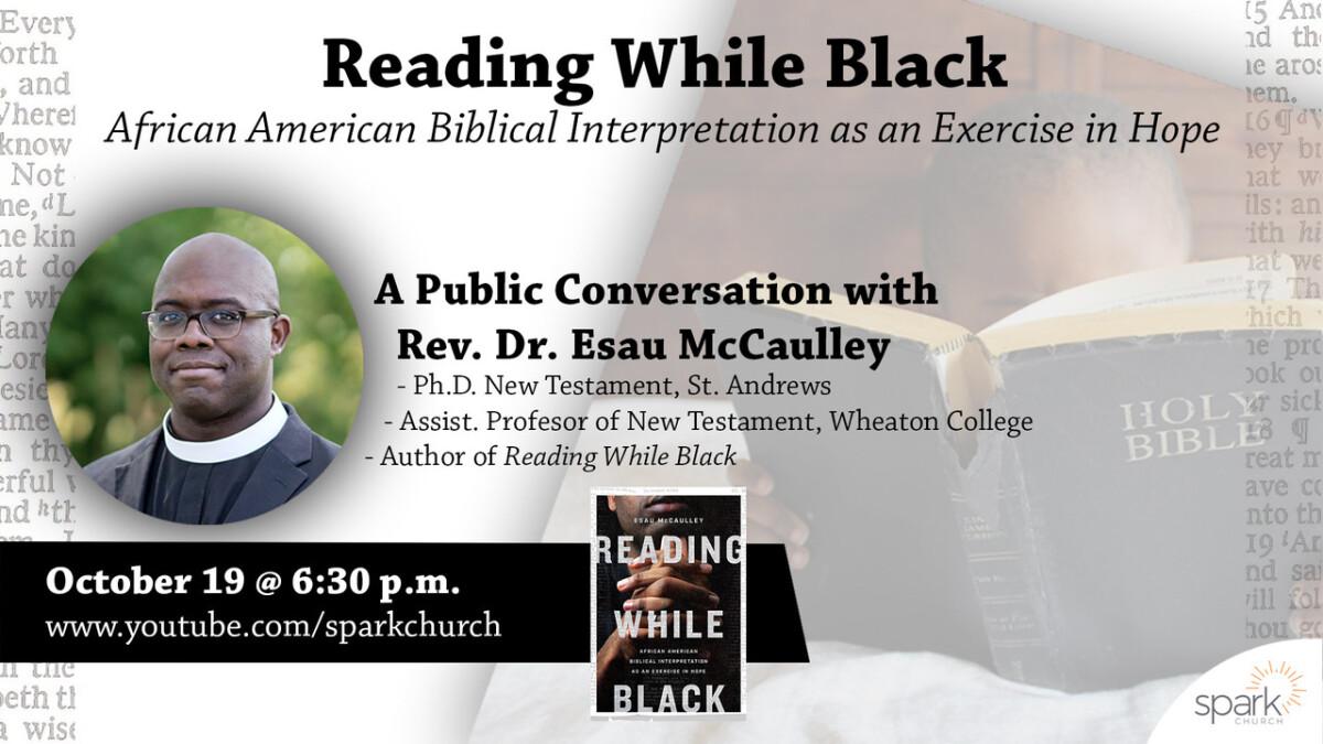 Conversation with Dr. Esau McCaulley